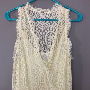 Cream color lace Free People dress